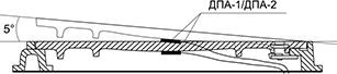 Датчик ДПА на крышке люка лип Л с запирающим механизмом